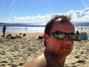 craig ward on noosa beach